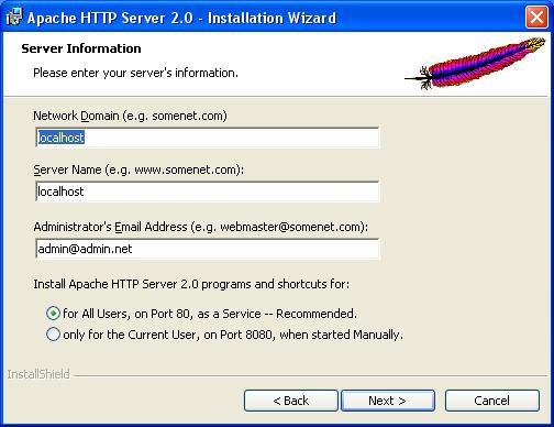 Apache 2.2 , MySQL 5 සහ PHP5 Windows තුල ස්ථාපනය කිරීම