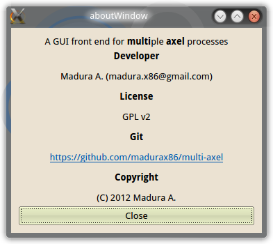 Multi-Axel – a GUI front end for Multiple Axel processes